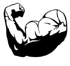 Arm Bodybuilding Fitness Wandtattoo Wallpaper Wand Schmuck 55 x 47 cm Wandbild