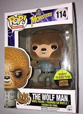 SDCC 2015 Funko Pop THE WOLF MAN UNIVERSAL MONSTERS FLOCKED Toy Tokyo LE Figure
