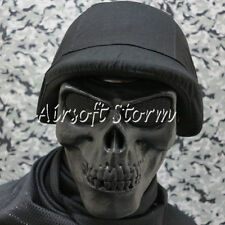 Airsoft SWAT Gear Seal Skull Skeleton Full Face Protector Mask Black