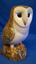 QUAIL CERAMIC BARN OWL FLOWER VASE - BIRD OF PREY MODEL OR FIGURE