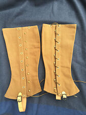 US M1897 Dark Brown Canvas Infantry Cavalry Leggings Size 5
