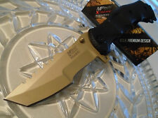 Mtech Xtreme Ballistic Black Gold Assisted Combat Folder Pocket Knife 805GD CSGO