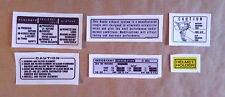 Autocollants / Stickers / Decals : Information - Warning Honda XL500S (79)