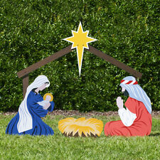 Outdoor Nativity Store Large Classic Nativity Set - Holy Family Yard Scene