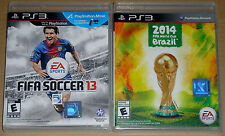 PS3 Game Lot - EA Sports FIFA  Soccer 13 (Used) 2014 FIFA World Cup Brazil (New)