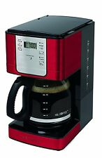 Mr. Coffee 12-Cup Auto-Pause Programmable Stylish Coffee Maker, Red | JWX36RR