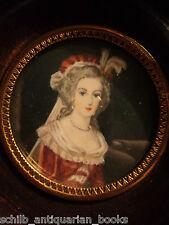 19th century Miniature Portrait Marie Antoinette France French Revolution