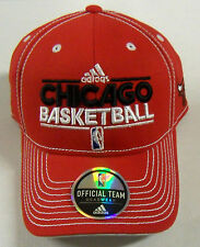 NBA Chicago Bulls Adidas Official Team Headwear Velcro-Back Curve Brim Cap Hat