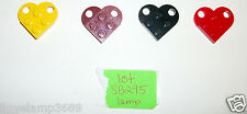LEGO Friends Heart Dog Tag Coupling plate 3176 Dark Red Yellow 4SETS 7964 4504