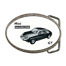 MINI MARCOS GT 1965 CLASSIC VINTAGE CAR REPRO BELT BUCKLE - GREAT GIFT ITEM