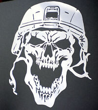 high detail airbrush stencil  army  skull  8 FREE UK  POSTAGE