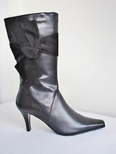 Van Dal Moritz Black Leather Kneehigh Boot Size 7 EU 41 D Fitting