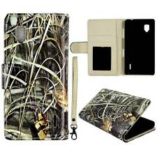 Flip Wallet Camo Grass For LG Optimus G LS970 Pu Leather Cover Case