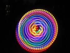 Rainbow LED Hula Hoop 36 Inch 24 Strobing Colors Dance Rave Light Toy Fusion