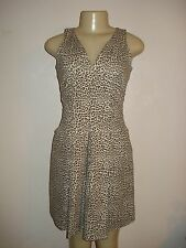 BANANA REPUBLIC ISSA LONDON LEOPARD PRINT SLEEVELESS CASUAL DRESS Sz 2P