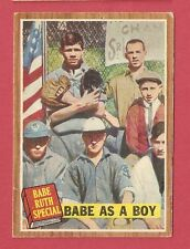 1962 Topps - Babe Ruth Story Special - Babe As A Boy # 135  VG-EX HOF *C0314*