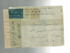 WW 2 Canton China censored airmail Cover to USA
