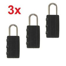 Combination Locks Travel Luggage Bag Padlock Home Gym Locker Suitcase Lock Black