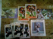 1989 NFL FRANCHISE GAME CARD HERSHEL WALKER +5 STICKERS 1987+ 2 SB PROM0 2 1000