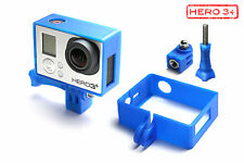Frame Mount Tripod Mount f. GoPro HD HERO 3+ Black Zubehör Stativ Adapter Blue