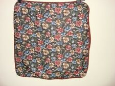 black burgundy tapestry flowers cushion cover new