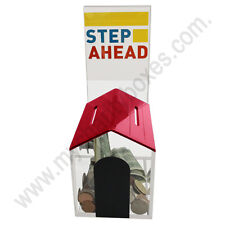 Acrylic Small  House Shape  Donation Box Suggestion Box With Lock & 2 Keys Red