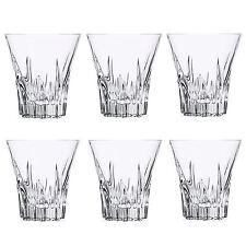 RCR Crystal 26275020006 Fluente Whiskey Glasses, 310ml, 9.7cm, Set of 6