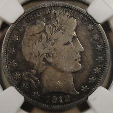 1912-S Barber Half Dollar Ngc F12 For the Crusty Lovers!