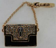 NWT Juicy Couture HANDBAG CHARM OpeNS UP! LIPSTICK on CHAIN Black Purse Bracelet
