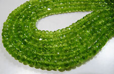 AAAA High Quality Natural Peridot 5-6mm Size Rondelle Faceted Beads , Length 13""
