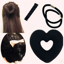 Bun Wraps Hair Ring Clip Set Sponget Foam Hair Updo Maker Lovely Heart Shaped SJ