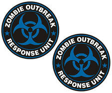 "Zombie Outbreak Response Unit Decal Set 3""x3"" Blue Team Window Sticker ZU1"