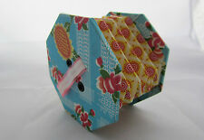Vintage Small Toy Squeezebox Accordion Concertina Floral Cardboard Paper Retro
