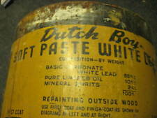 dutch boy paste white lead can 100lbs.net with lid