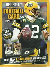 2015-2016 Beckett Football Card Annual Price Guide 32 nd Edition Aaron Rodgers