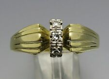 REIF-DESIGN - MARKANTER DIAMANT RING - 585 GELBGOLD/WEISSGOLD