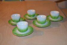 5 Pottery Barn Baby Chick Chicken Green Egg Cups Easter