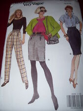 VOGUE #8359 - LADIES ELASTIC WAIST SKIRT & TAPERED ANKLE PANTS PATTERN  18-22 uc