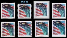 39c Lady Liberty Flag 3978-85 3985 3985b Complete Set 8 From 2006 MNH - Buy Now