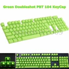 Green Doubleshot PBT Translucent 104 KeyCap Backlit Light for Cherry MX Keyboard