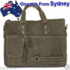 """JW010-AU Vintage Full Grain Leather Men's Bag Shoulder Bag 15"""" Laptop Bag"""