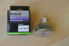 Genuine Robus R3MR16 3W MR16 12v low voltage LED Bulk 4000k cool white 38 degree