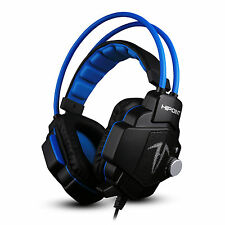 HIPOINT GAMING HEADSET MIC LED HEADPHONES STEREO SURROUND FOR PC LAPTOP PS4 X90