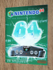 Nintendo Werbung Ad Flyer N64 Super Mario Kart 64 Star Fox Lylat Wars Wave Race