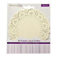 PK 30 DOCRAFTS ROUND  PAPER LACE DOILIES FOR CARDS AND CRAFTS
