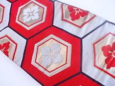 ANTIQUE JAPANESE NAGOYA OBI FOR KIMONO, BEAUTIFUL CRAFT MATERIAL, WOVEN WAVE
