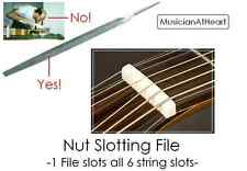 MusicianAtHeart UNIVERSAL NUT SLOT FILE - Single File to Slot the Complete Nut