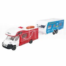 Affluent Town 1:64 Die-Cast Travel Trailer Truck Caravan Red Color Model New