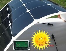 100W 18V Semi Flexible Mono Solar Panel + 10A 12V/24V Solar Controller For Boat