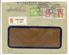 NEDERLAND 1923- 8-7  REG COVER  = MIDDELBURG =  F/VF